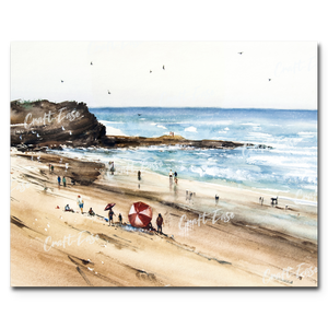 """Beach Fun"" Paint By Numbers Craft-Ease™ - Exclusive Series (40 x 50 cm)"