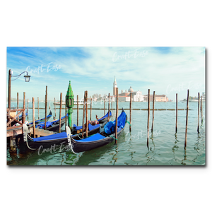 """Parking in Venice"" Paint By Numbers Craft-Ease™ - Exclusive Series (30 x 50 cm)"