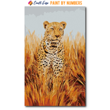 """Leopard"" Paint By Numbers Craft-Ease™ - Exclusive Series (50 x 30 cm)"