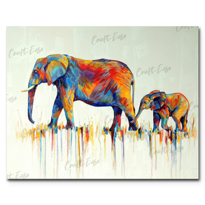 """Mama and Baby"" Paint By Numbers Craft-Ease™ - Exclusive Series (40 x 50 cm)"