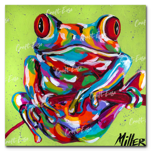 """Tree Frog"" Paint By Numbers Craft-Ease™ - Exclusive Series (40 x 40 cm)"