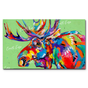 """Rocky Mountain Moose"" Paint By Numbers Craft-Ease™ - Exclusive Series (30 x 50 cm)"