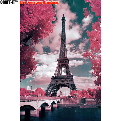 """Paris Blossoms"" - Craft-IT™ DIY Gemstone Paintings - Deal-Rush"