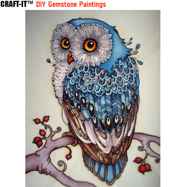 """Nocturnal Beauty"" - Craft-IT™ DIY Gemstone Paintings - Deal-Rush"