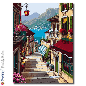 """For a Lazy Afternoon Stroll"" - Paint By Numbers Craft-Ease™ (50 X 40 cm) - Craft-Ease"
