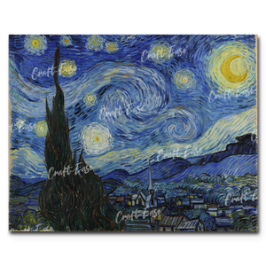 """The Starry Night"" Paint By Numbers Craft-Ease™ - The Classics (40 x 50 cm) - Craft-Ease"