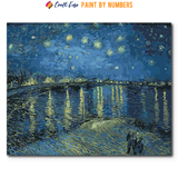 """Starry Night Over the Rhone"" Paint By Numbers Craft-Ease™ - The Classics (40 x 50 cm) - Craft-Ease"