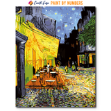 """Cafe Terrace at Night"" Paint By Numbers Craft-Ease™ - The Classics (50 x 40 cm)"