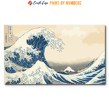 """The Great Wave off Kanagawa"" Paint By Numbers Craft-Ease™ - The Classics (30 x 50 cm) - US Shipping"
