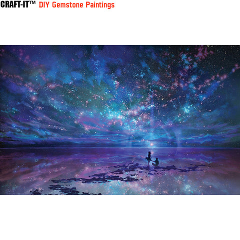 """Under the Sky of Love"" - Craft-IT™ DIY Gemstone Paintings - Deal-Rush"
