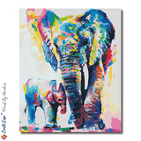 """Elephant"" - Craft-Ease™ Paint By Numbers (50 x 40 cm)"