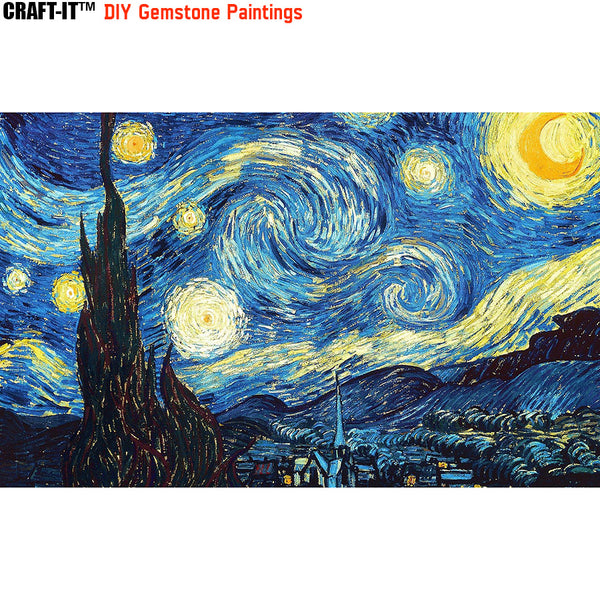 """Starry, Starry Nights"" - Craft-IT™ DIY Gemstone Paintings - Deal-Rush"