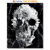 """Floral Skull Two Marble"" Paint By Numbers Craft-Ease™ - Exclusive Series (50 x 40 cm)"