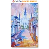 """Carriage on Orleans Street"" Paint By Numbers Craft-Ease™ - Exclusive Series (50 x 30 cm)"