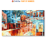 """Frenchmen Street Color"" Paint By Numbers Craft-Ease™ - Exclusive Series (30 x 50 cm)"