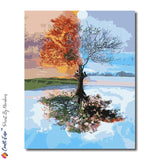 """Four Seasons"" - Craft-Ease™ Paint by Numbers (50 x 40 cm)"