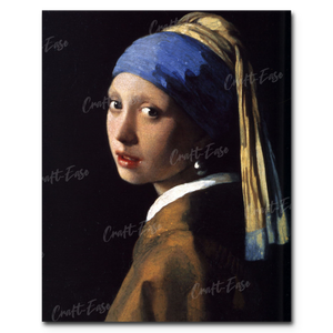 """The Girl with The Pearl Earring"" Paint By Numbers Craft-Ease™ - The Classics (50 x 40 cm) - Craft-Ease"