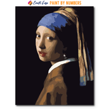 """The Girl with The Pearl Earring"" Paint By Numbers Craft-Ease™ - The Classics (50 x 40 cm)"