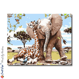 """True Jungle Friendship"" - Craft-Ease™ Paint By Numbers (40 x 50 cm)"
