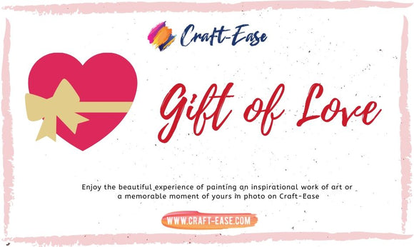 Craft-Ease Gift Card - Gift of Love