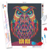 """Neon Owl"" Craft-Ease™ Diamond Painting Kit - Exclusive Series (50 x 40 cm)"