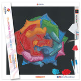 """Multicolor Rose"" Craft-Ease™ Diamond Painting Kit - Exclusive Series (40 x 40 cm)"