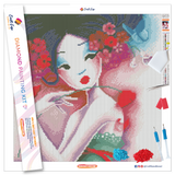 """Fancy Flowers"" Diamond Painting Kit Craft-Ease™ - Exclusive Series (40 x 40 cm)"