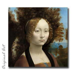 """Ginevra de' Benci"" Craft-Ease™ Paint By Numbers - The Classics (40 x 40 cm)"