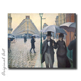 """Paris Street in Rainy Weather"" Craft-Ease™ Paint By Numbers - The Classics (40 x 50 cm)"