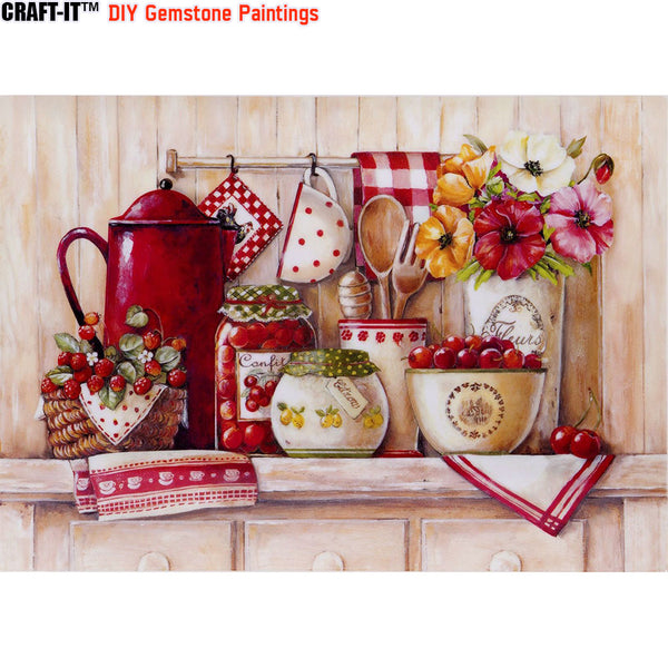 """Ministry of Savor"" - Craft-IT™ DIY Gemstone Paintings - Deal-Rush"