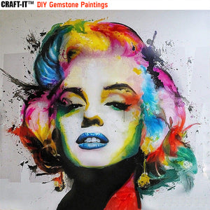 """Monroe Magic"" - Craft-IT™ DIY Gemstone Paintings"