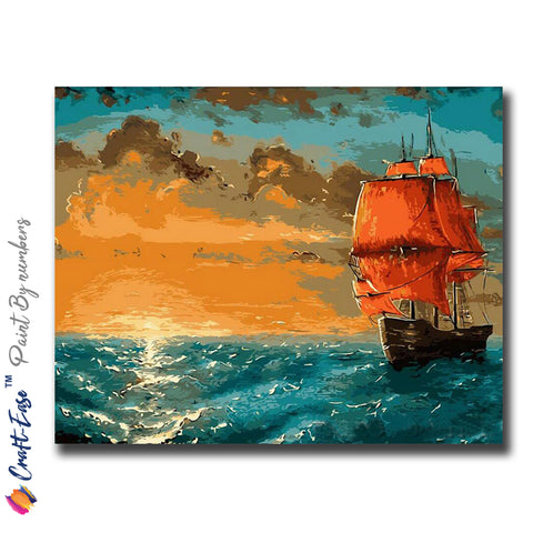 """Off to an Adventure"" - Craft-IT™ Paint By Numbers - Deal-Rush"