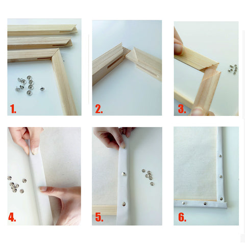 DIY Wooden Frame - Craft-IT™ Paint By Numbers - 40x50cm - Deal-Rush