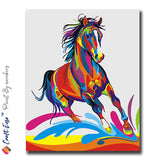 """Running Horse"" - Craft-Ease™ Paint By Numbers (40 x 50 cm)"