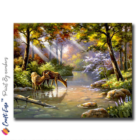 """Serenity in Paradise"" - Craft-IT™ Paint By Numbers - Deal-Rush"