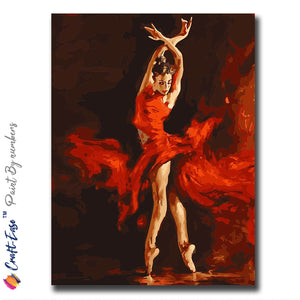 """Spin of Passion"" - Craft-Ease™ Paint By Numbers  (40 x 50 cm)"