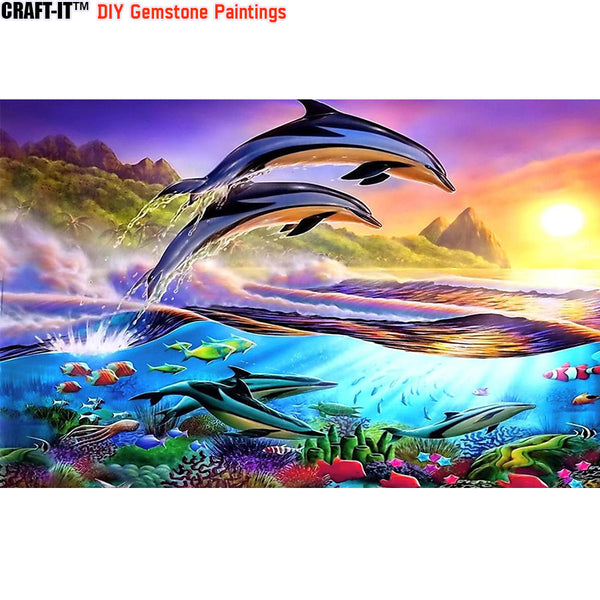 """Surreal Harmony"" - Craft-IT™ DIY Gemstone Paintings - Deal-Rush"
