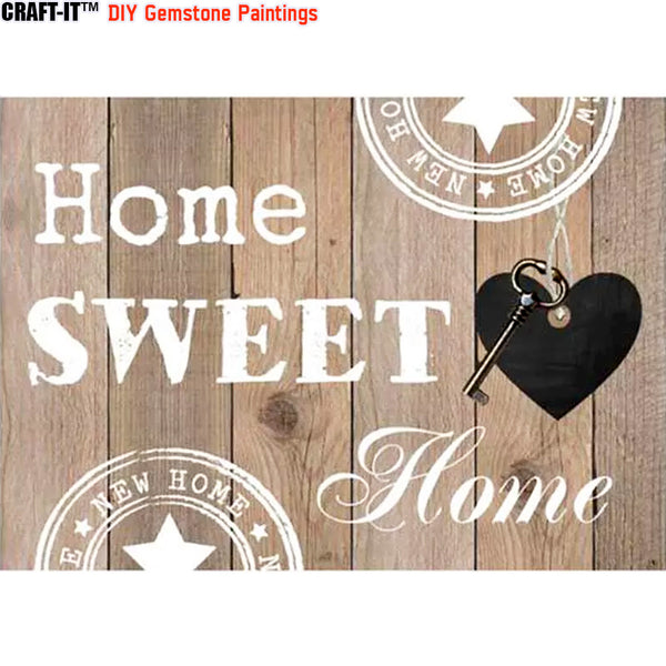 """Sweet Home"" - Craft-IT™ DIY Gemstone Paintings - Deal-Rush"