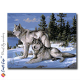 """Thoughts of Wolves"" - Craft-IT™ Paint By Numbers - Deal-Rush"