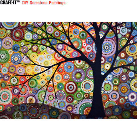 """Tree of Existence"" - Craft-IT™ DIY Gemstone Paintings"