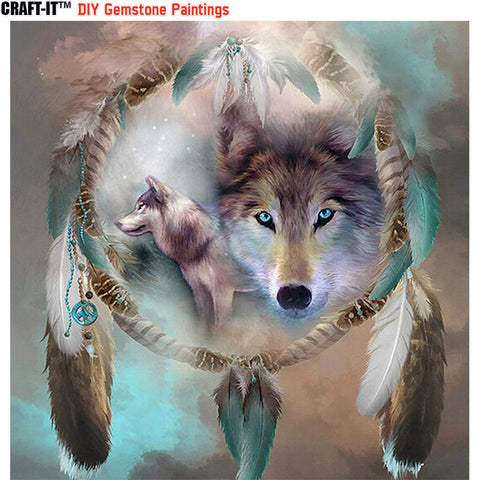 """Untamed Dreams"" - Craft-IT™ DIY Gemstone Paintings - Deal-Rush"
