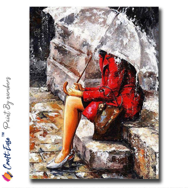 """Waiting for a Friend"" - Craft-IT™ Paint By Numbers - Deal-Rush"