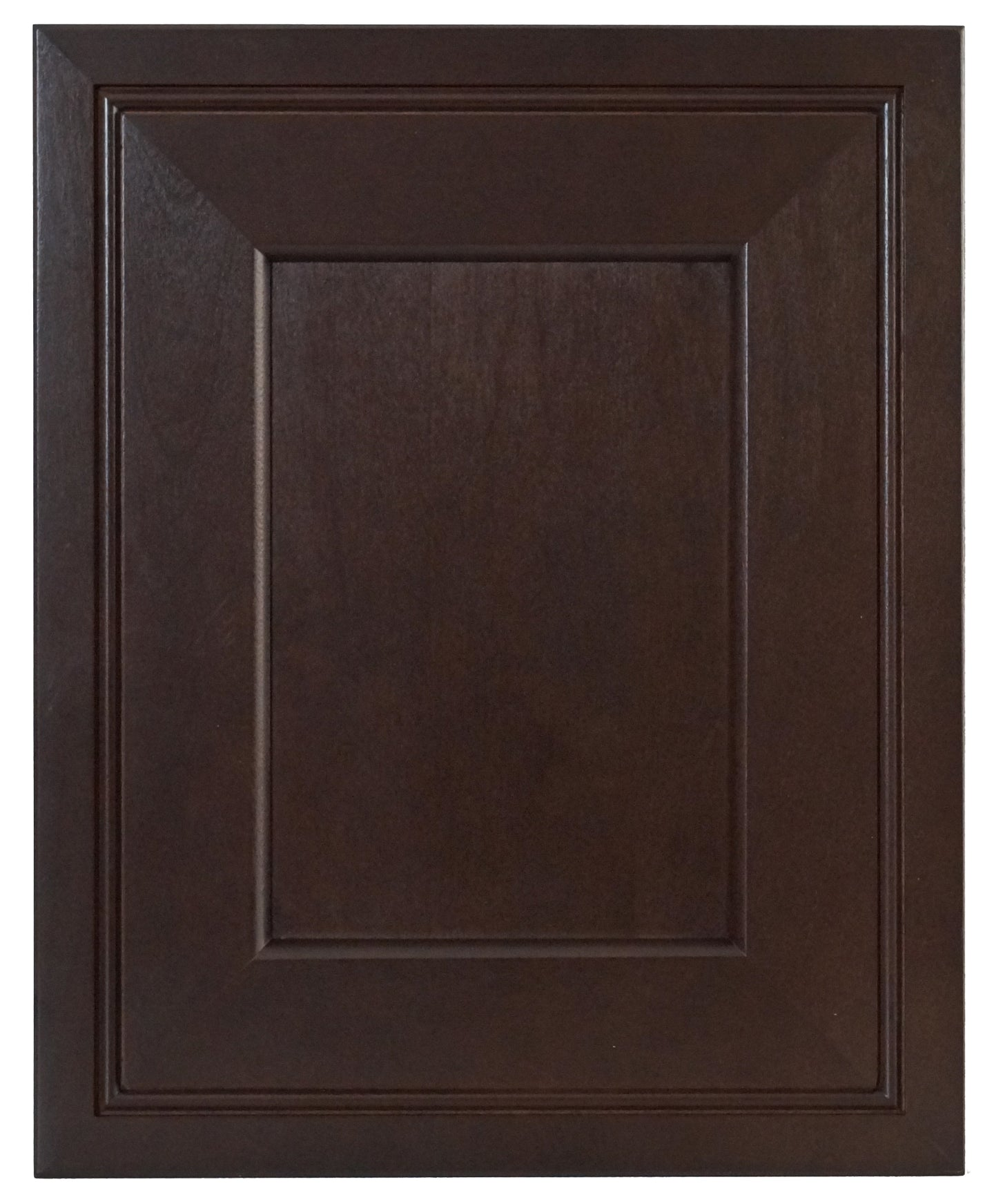 Espresso Contemporary Raised Panel Door - Quality Kitchens For Less