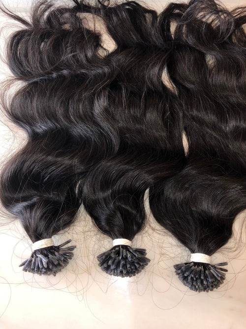Posh Raw Indian (Wavy) iTip Extensions