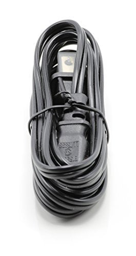 2 Prong Figure 8 Power Cord Cable |Non-Polarized 10 Foot – Black| Satellite/ PS3