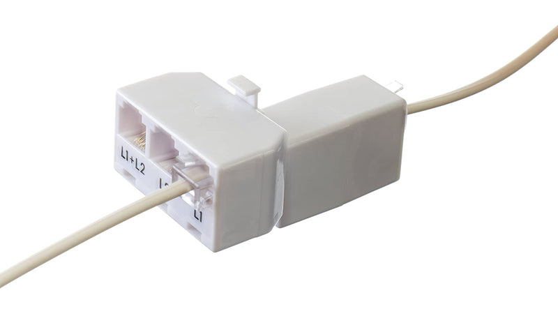 Phone Cord Coupler RJ11 | Modular 4 Conductor 2 Line Class | White | Three Pack