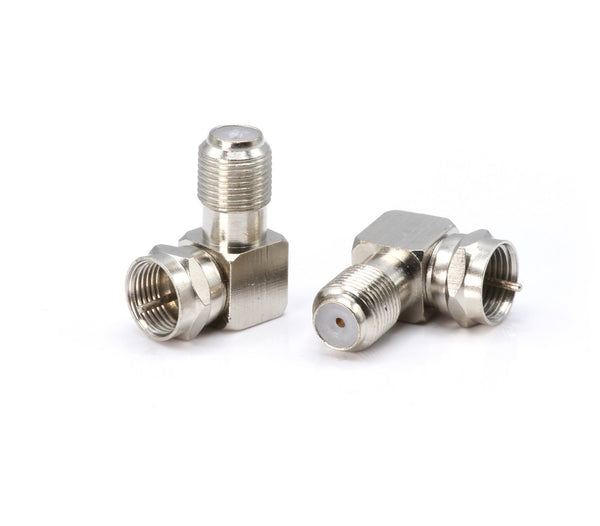 Right Angle Coax Connector | High Quality | 90 Degree Coaxial Adapter – 100 Pack