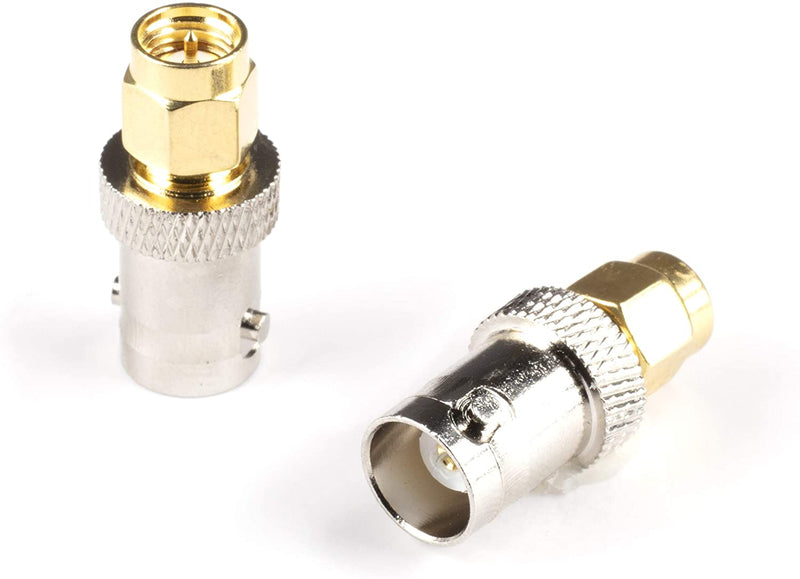 Gold SMA Male to BNC Female Adapter - 25 Pack Coupler - Male to Female Coaxial (RF) Connector, Compatible with RF, SDI, HD-SDI, CCTGV, Camera