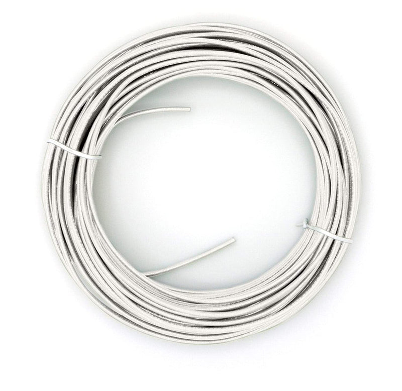 White THHN Wire - 10 AWG - 25 Feet - Solid Copper Grounding Wire, Proudly Made in America - Ground Protection Satellite Dish Off-Air TV Signal - UV Jacketed Antenna Electrical Shock