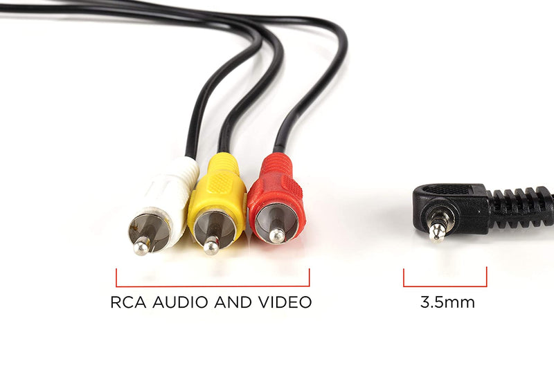 3.5mm Male Jack to RCA Male Video and Audio Cable - Compatible with Roku and Tivo - NOT FOR CAMERAS - Composite Video Cable Connector (Red White Yellow) - 6 Feet, 3 Pack